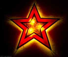 Star in the style of Shephard Fairey, Friedrichshain bar