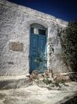Old door in Ano Mera,Mykonos