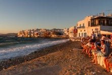 Sunset at Little Venice, Mykonos