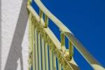 Railing and blue sky, MykonosTown