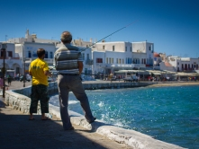 Harbour fishing, Mykonos Town