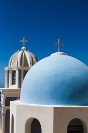 Typical Blue Church Dome, Imerovigli, Santorini