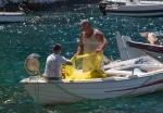 Inter-generational fishing, Ammoudi Bay, Oia,Santorini