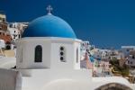 Classic Blue Church Dome, Oia,Santorini