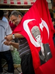 Man selling Ataturk flags, YeniCamii