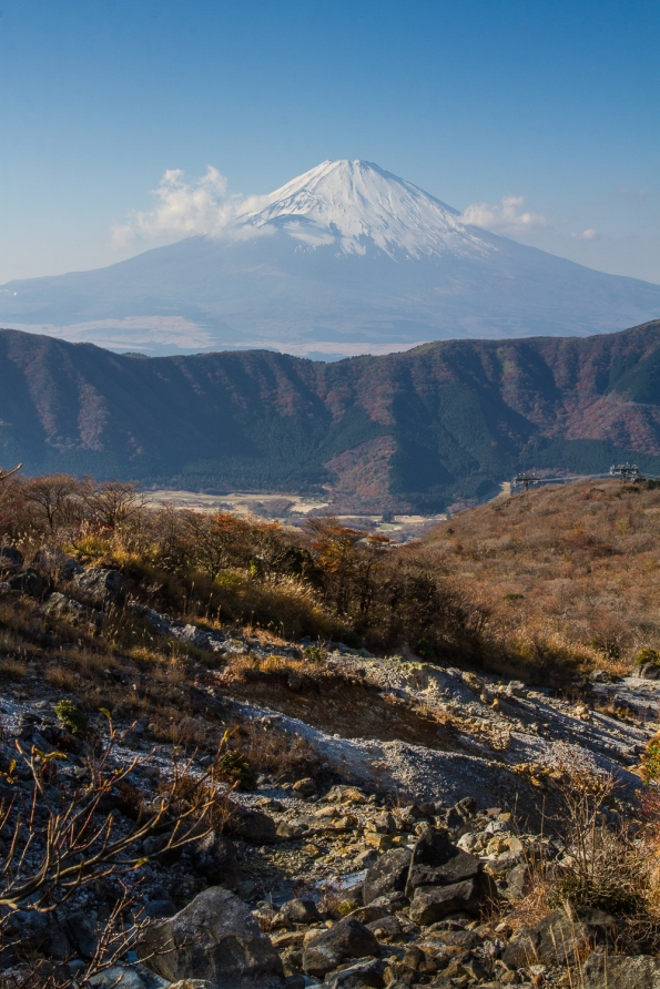 Mount Fuji from Owakaduni, Hakone