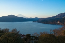 View of Lake Ashinoko and Mount Fuji from Hakone Detached Palace