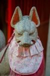 "Inari (""fox"") kami statue, UenoPark"