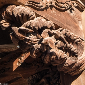 Temple carving closeup, Dai-enji Temple, Yanaka