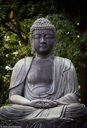 Sitting Buddha, Senso-ji Temple, Asakusa