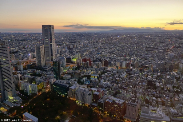 Western Tokyo and Mount Fuji from the Tokyo Metropolitan Governm
