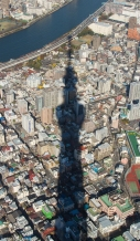 Tokyo Sky Tree casts a long shadow
