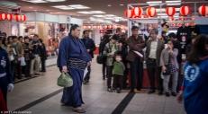 Rikishi entering, Fukuoka Kokusai