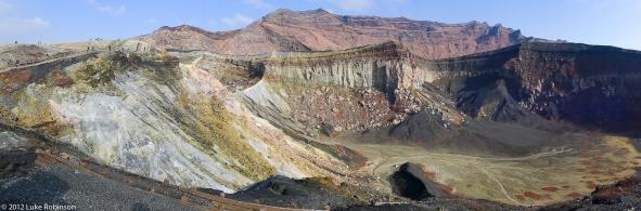 Mount Aso Crater Floor Panorama