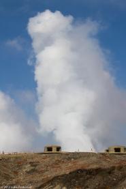 Huge Sulphur Steam Cloud, Mount Aso