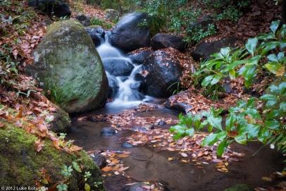 Mini waterfall at Sanga Ryokan, Kurokawa