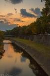 Kumamoto Castle Moat,Sunset