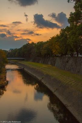 Kumamoto Castle Moat, Sunset