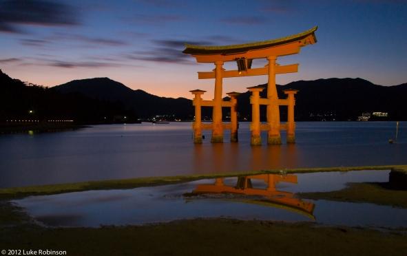 Long Exposure of the Torii Gate of the Itsukushima Shrine