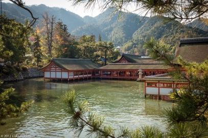 Itsukushima Shrine at high tide, Miyajima