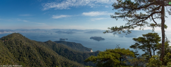 Panorama of Hiroshima Bay from Mount Misen, Miyajima