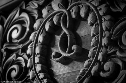 Door detail of Ichijo-in Temple, Koya-san