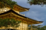 The Golden Pavilion and a stormy sky,Kyoto