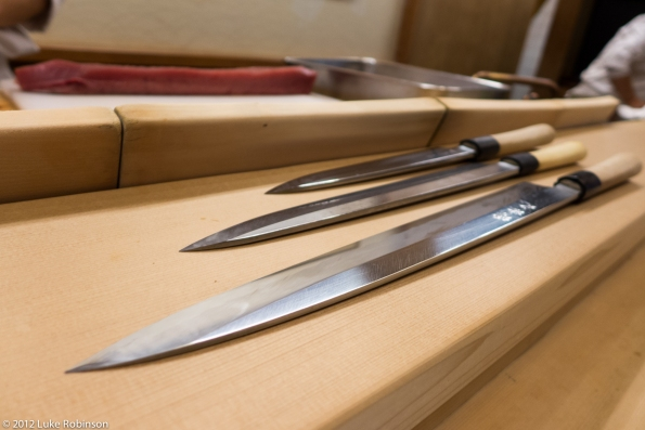 3 ages of sashimi knife, Roan Kikunoi Restaurant, Kyoto