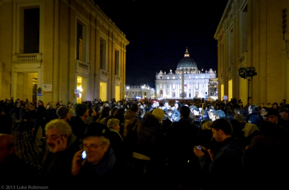 Saint Peter's Square empties after the announcement