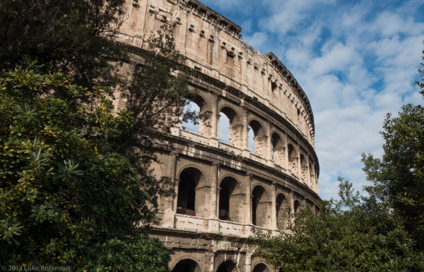 The Colisseum of Rome, East Side