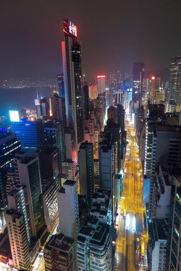Wan Chai Aerial Night View