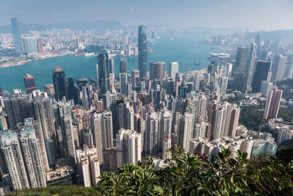 Central, Wan Chai and Kowloon from Victoria Peak
