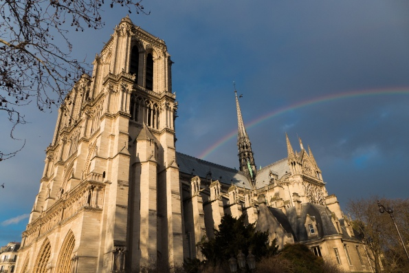 Notre Dame and Rainbow