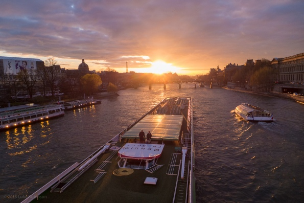 Sunset, the Seine, and a Bateau Mouche