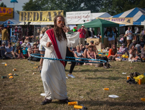 Hula Hoop Jesus (AKA Pirate Dan, AKA the Charity Bin Painter), W