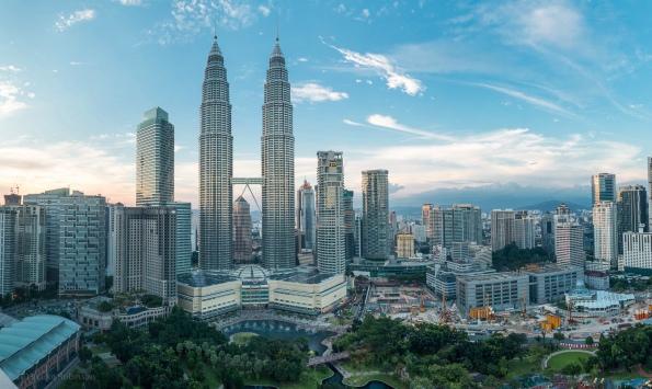 Petronas Towers Sunset Panorama, Kuala Lumpur